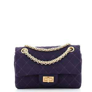 Chanel Reissue 2.55 Flap Bag Quilted Jersey 224