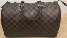 100% Authentique Louis Vuitton Speedy 35 Damier Ebene Sac à main en toile