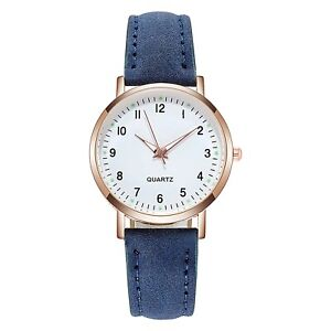 Luminous Simple Leather Band Ladies Quartz Wristwatch