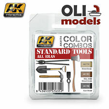 Color Combos STANDARD TOOLS ALL ERAS Paint Set 3x17ml - AK Interactive 4174