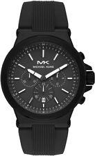 Michael Kors Men's Dylan Chronograph Matte Black Silicone Watch - MK8729
