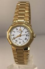 BAUME & MERCIER RIVIERA 18 KARAT YELLOW GOLD BRACELET LADIES WATCH WITH BOX!!!!