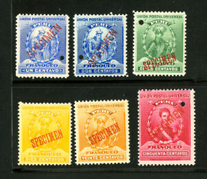 Peru Stamps VF OG LH U.P.U. Specimen Series of 6