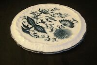 Blue Onion Porcelain Trivet Hot Plate Japan Crossed Swords