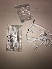 Lot Of 2pc Sony Ericsson MH-610 Stereo Headset, 3.5mm Universal Handsfree White