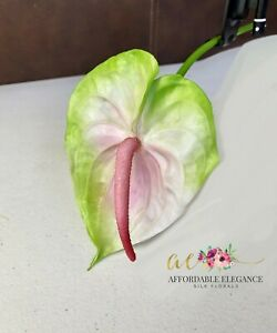Artificial Anthurium Fake Faux Real Touch Tropical Silk Flowers Bird of Paradise