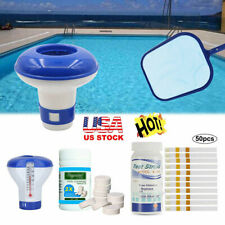 Swimming Pool Hot Tub Cleaning Tablet+Floating Chlorine Chemical Dispenser Us