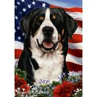 Patriotic (1) House Flag - Greater Swiss Mountain Dog 16144