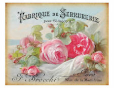 Vintage Grunge French Pink Roses Art Furniture Transfers Decoupage Decals Fl538