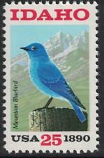 Scott 2439- Idaho Statehood, Mountain Bluebird- MNH 25c 1990- unused mint stamp