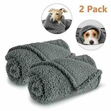Aiperro 2 Pack Premium Fluffy Fleece Dog Blanket,Soft and Warm Pet Throw Blanket