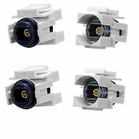 4x Toslink Audio Optic Fiber Optics Coupler Jack Insert for Keystone Wall Plate