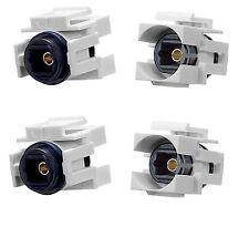 4x Toslink Audio Optic Fiber Optics Coupler Jack Insert for Keystone Wall Plate