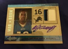 2011 Absolute Titus Young Auto 4 Color Prime Patch Rookie #22/25 (BKLYN)
