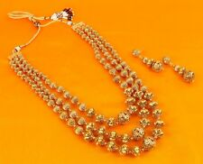 2443 Indian Jewelry Gold Plated Fashion Beads Necklace Mala Bridal Bollywood Set