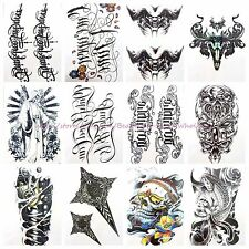 "US SELLER-10 sheets large 8.25"" temporary arm tattoo wholesale men women armour"