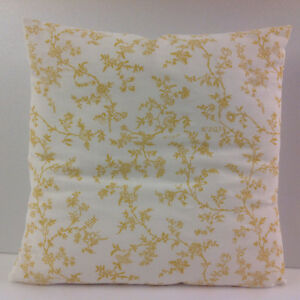 FRENCH STYLE CUSHION COVERS SHABBY CHIC-STYLE SCATTER COVERS IKEA YELLOW WHITE