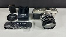 Olympus Pen E-P1 12.3MP Mirrorless Digital Camera Micro 4/3 Nikon 50mm 1.8 Lens