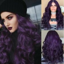 Ladies Purple Sexy Anime Cosplay Costume Wig Big Wave Curly Hair Wig Z