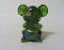 BOYD GLASS WILLIE THE MOUSE #1 LIME CARNIVAL FIGURINE B IN DIAMOND 2 LINES 68