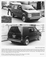 1986 Dodge Mini Ram Van Press Photo 0102