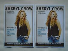 SHERYL CROW Live in Concert UK tour 2014. Promotional tour flyers x 2