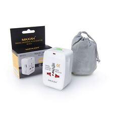 Enchufe adaptador viaje Universal Maxah 150 paises EU US UK au USB Protección