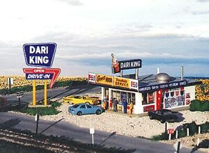 "Blair Line - Dari-King Drive In Restaurant - Kit -- 4 x 5""  10 x 12.5cm - HO"