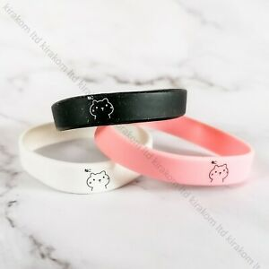 3pcs Cat Rubber Silicone Wristband Bracelet Cute Party Bag Fillers Candycat UK