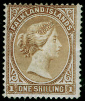 FALKLAND ISLANDS SG38, 1s yellow-brown, M MINT. Cat £75.