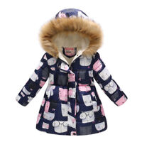12915d869 Toddler Girls Winter Puffer Jacket Parka Ski Snow Blue Brown 3 3T 4 ...