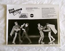 70s MEGO WGSH B&W SALESMAN SAMPLE PHOTO FIST FIGHTING BATMAN JOKER ROBIN RIDDLER