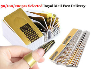 Nail Art Form Stickers Self Adhesive Extension UV Builder Acrylic Tips Gel Forms