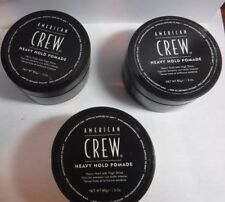 3 American Crew HEAVY HOLD POMADE With High Shine 3 oz Each .