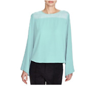 Vince Camuto Womens Sheer Bell Long Sleeve Blouse Size Large