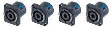 (4) Genuine Neutrik NL2MP 2 Pole Chassis Mount Locking SpeakOn Speaker Connector