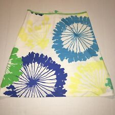 Lilly Pulitzer Skirt Size 6 Summer Side Zip Lined 100% Cotton
