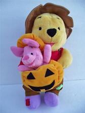 """Winnie the Pooh & Piglet 13"""" Plush Halloween Friend 2001 Fisher Price Mattel"""