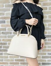Michael Kors Emmy Large Cindy Dome Satchel Bag Oyster Crossbody
