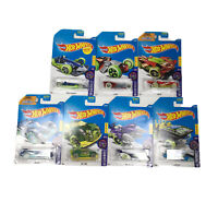 Lot Of 7 Hot Wheels HW Glow Wheels Cars Diecast 1:64 Scale Packages Not Mint.