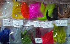 "Strung Saddle Hackle, Small Bags, 6-8"", Assorted Colors"