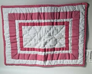 Pottery Barn Kids Quilted Pink Quilted Pillow Cover12X16 White Pink