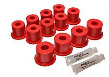 Energy Suspension 7.2101R Red Rear Leaf Spring Bushings for 80-86 Datsun 720