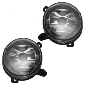 New Pair Set Fog Lights Round Lens Lamps for Audi A4 & A4 Allroad S4 Q5 SQ5 A6