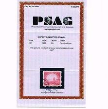 GENUINE SCOTT #567 XF USED PSAG CERT 1923 20¢ CARMINE ROSE - ESTATE SALE