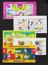 Netherlands - Semi-postal souvenir sheets from 2001-05