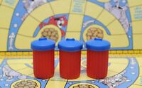 VINTAGE IDEAL GAMES ALLEY CATS BOARDGAME THREE SPARE DUSTBINS GAME SPARES