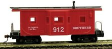 Model Power Ho 36' BAY WINDOW CABOOSE SOUTHERN # 98244 W/ Knuckle Couplers NEW