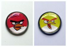 anneys ~ two GOLF  BALL  MARKERS - angry birds !!! ~