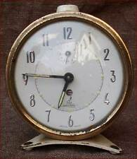 Vintage French Alarm Clock JAZ Crescendo 1950